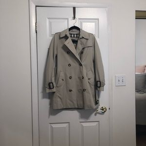 Burberry trench.